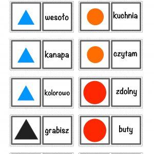 Części mowy – domino Montessori