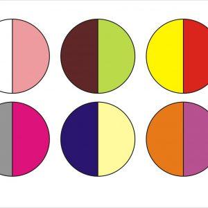 Kolorowe kropki do ćwiczeń na macie